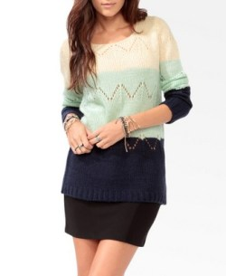 Forever 21 - Colorblocked Pointelle Sweater