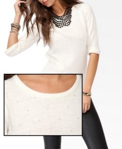 Forever 21 - Pearlescent Embellished Sweater