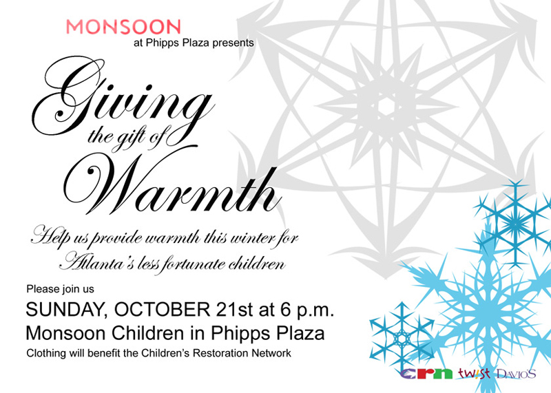 Monsoon Children at Phipps Plaza - Giving the Gift of Warmth