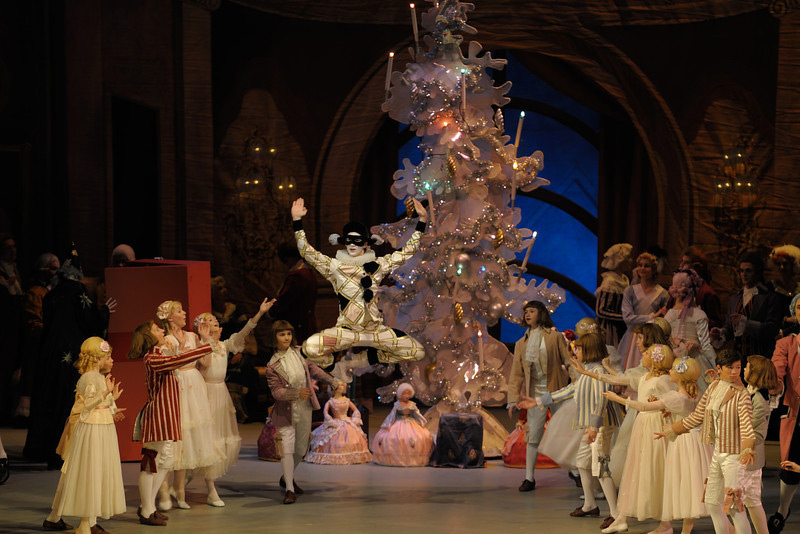 A clown during the Christmas Eve party in the Tchaikovsky's The Nutcracker
