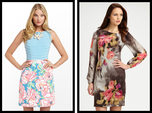 Julianna Dress & Kay Unger Floral Silk Dress