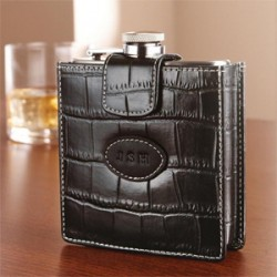 Personalized Royce Leather Flask