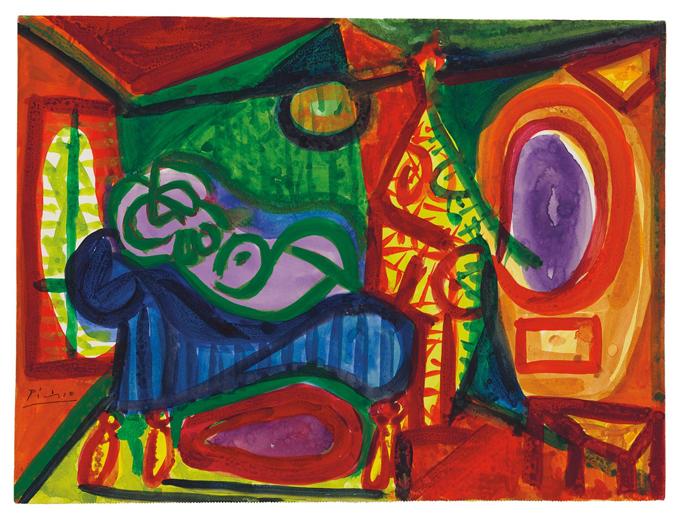 Pablo Picasso - Femme Couchee et personage