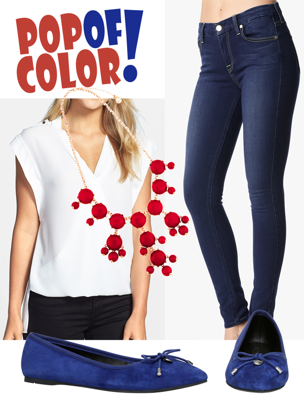4th of July Fashion - Pop of Color