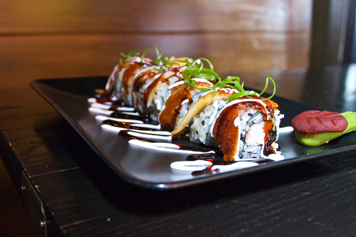 Sushi offerings at Red Martini lounge in Buckhead