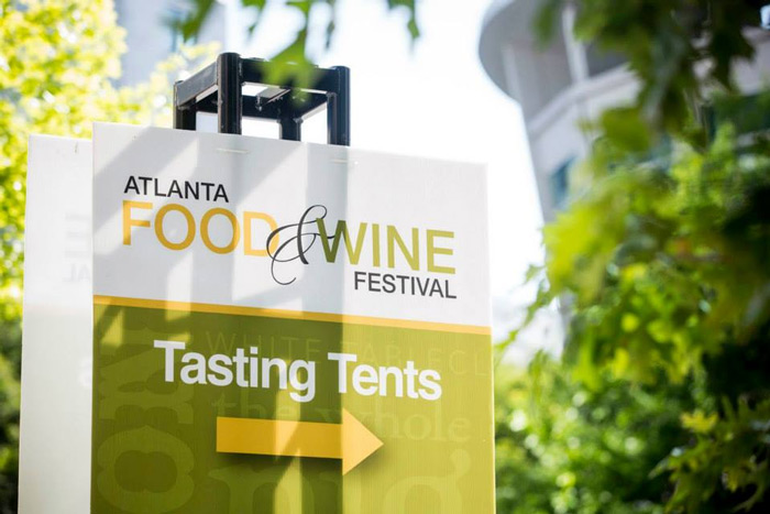Atlanta Food Wine Festival tasting tents