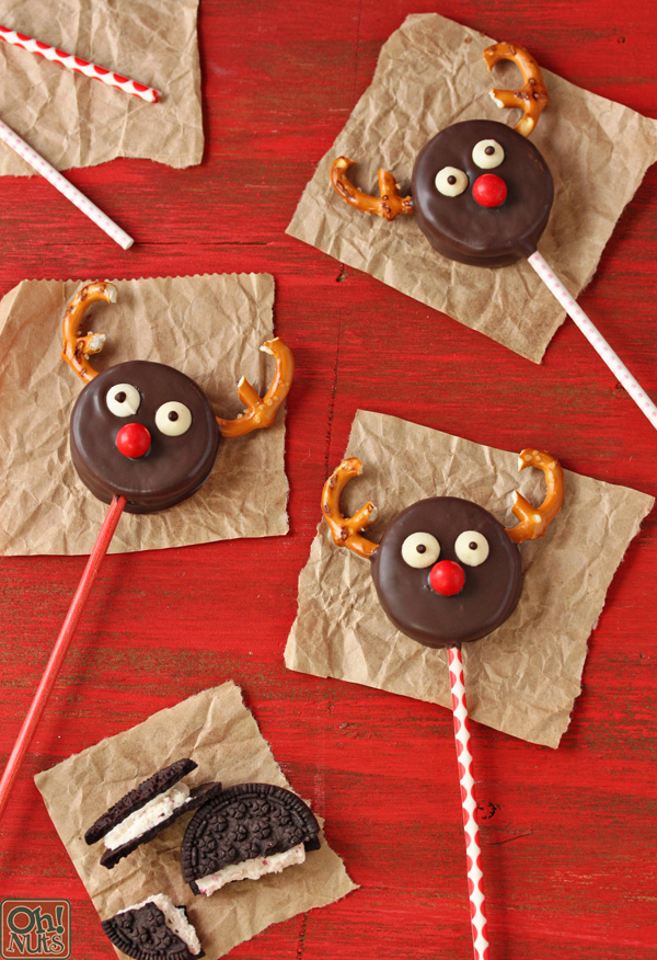 Oreo Reindeer Pops  Oh Nuts Blog