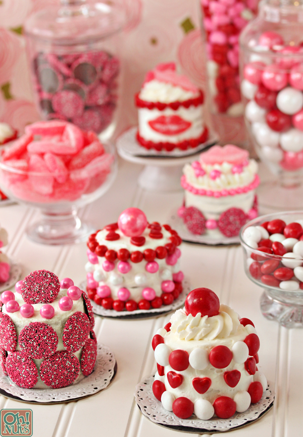 Easy Valentines Day Mini Cakes Oh Nuts Blog