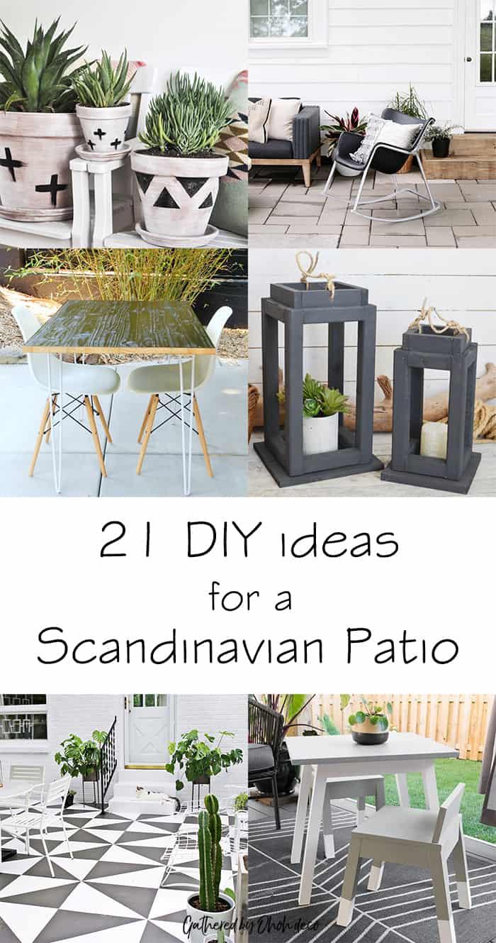 diy scandinavian patio ideas ohoh deco