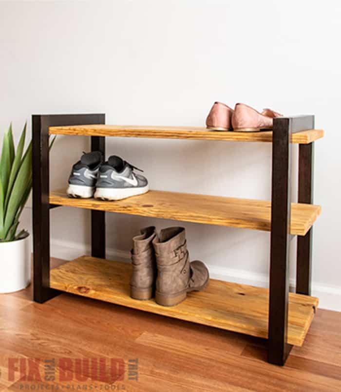 diy shoe rack plans ohoh deco