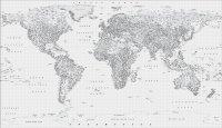 Photo Wallpaper | Black & White Map Wall Mural | ohpopsi