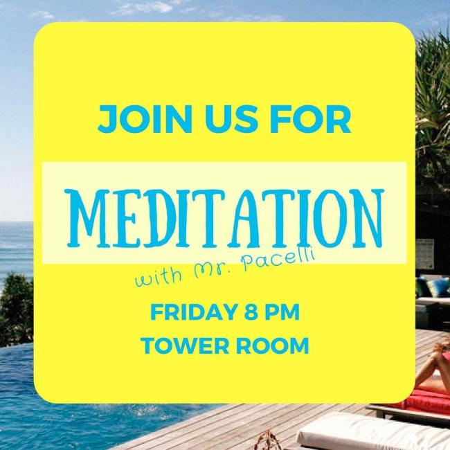 We are in the home stretch of Exam Week! Join us tonight in Ohrstrom Library for a meditation study break at 8:00pm with snacks beginning at 7:30pm. #ohrstromlibrary #examweek #iamsps #meditation #snacks #studybreak