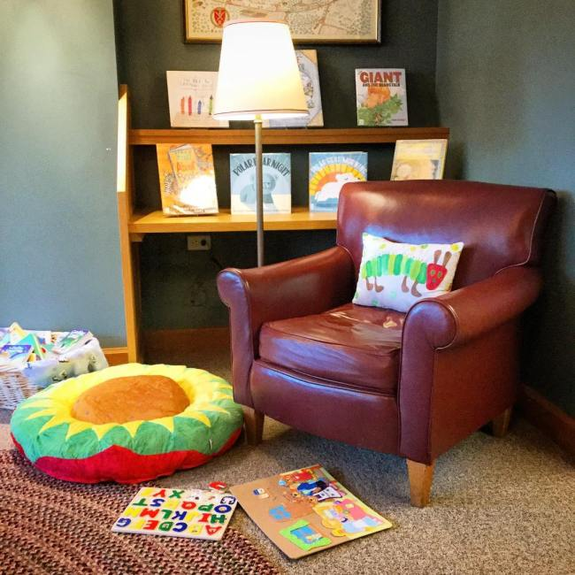 The Runnells Reading Room received a makeover during the holiday break to make it more comfortable and accessible for our youngest patrons. There is a new rug, comfy pillows, puzzles and games, and even a fuzzy felt board! Stop in and see! #ohrstromlibrary #redecorate #makeover #childrensroom #pillows #comfy #childrensbooks #puzzle #fuzzyfelt #librarydecor #librariesofinstagram #iamsps
