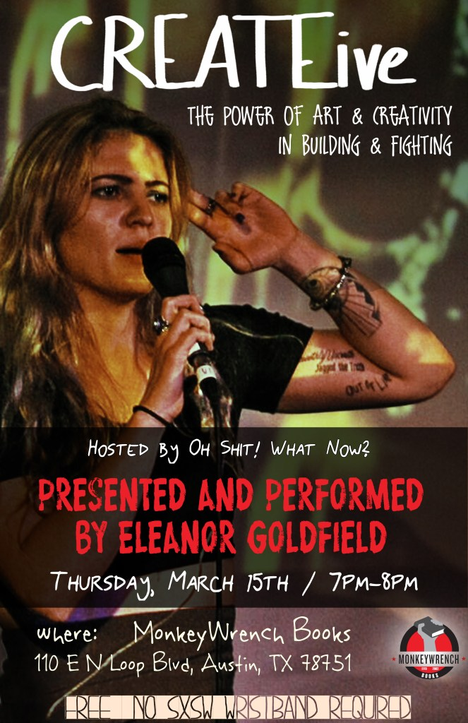 CREATEive with Eleanor Goldfield poster