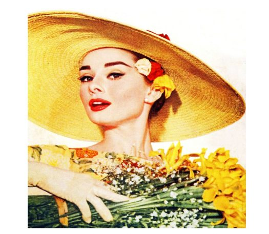 vintage 1950s lady in a summer hat
