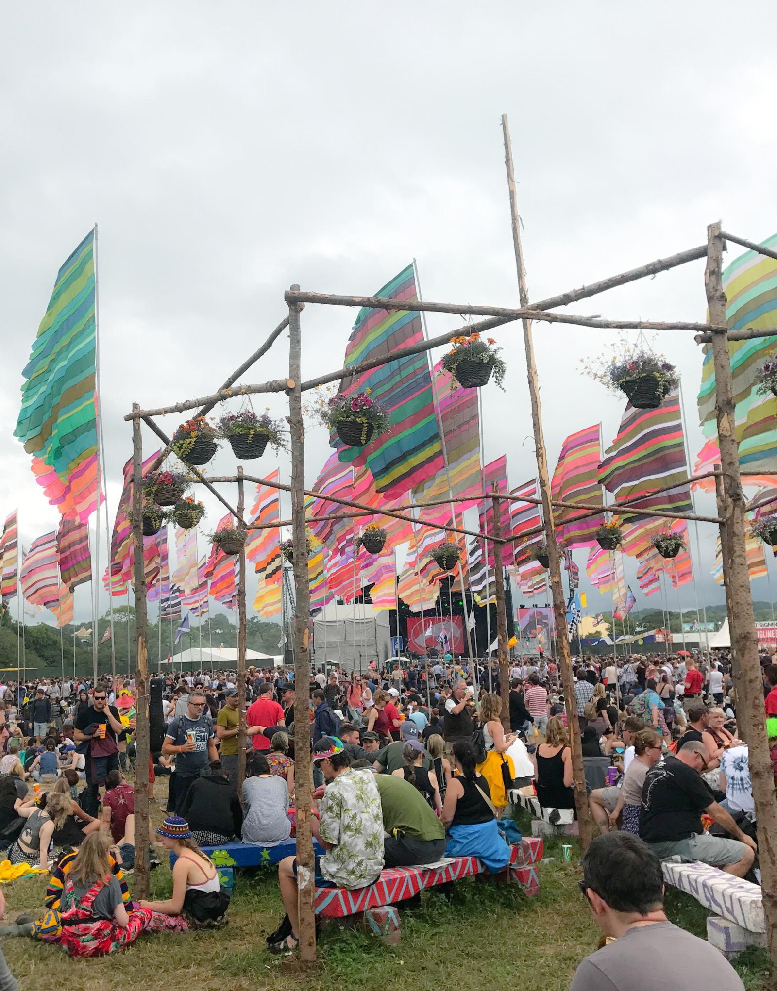 Glastonbury Festival flags