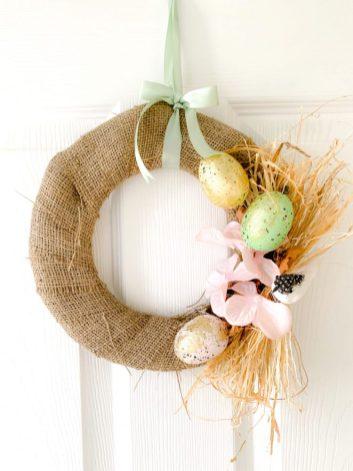 DIY paper plate easter wreaths