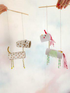DIY loo roll animal puppets
