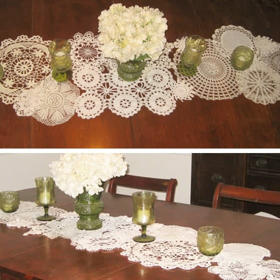 DIY //  VINTAGE DOILY TABLE RUNNER