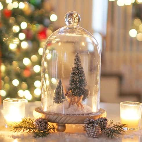 DIY //  DECORATIVE WINTER CLOCHE