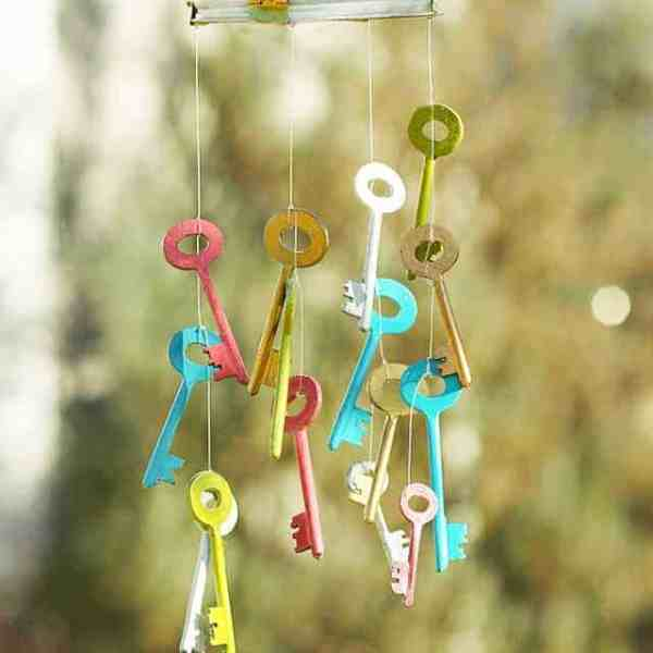 DIY // SKELETON KEY WIND CHIME