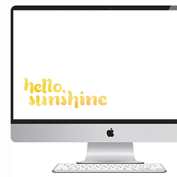 FREEBIES // HELLO, SUNSHINE