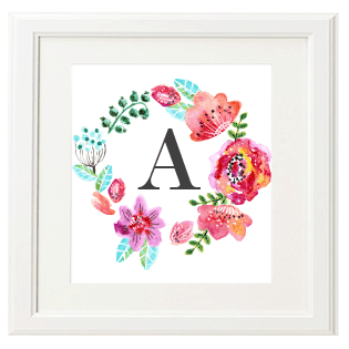 FREEBIES  //  FREE FLORAL MONOGRAMS