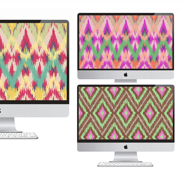 FREEBIES  //  IKAT DESKTOPS