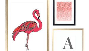 FREEBIES FLAMINGO MONOGRAM GALLERY WALL PRINTABLES