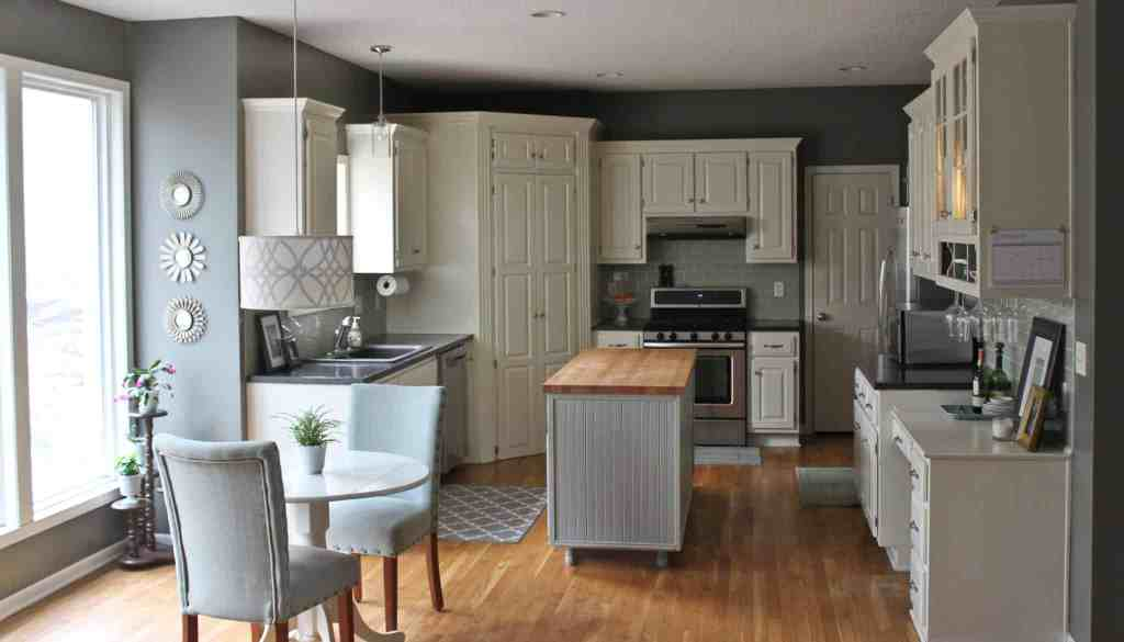 Our diy kitchen demolition demo and renovation on a budget audrey kuether kitchen after 3 solutioingenieria Images