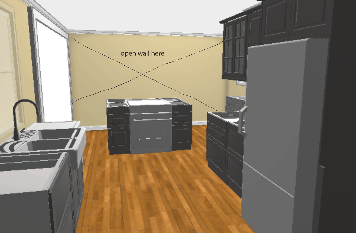 IKEA kitchen remodel and layout. High end look on a budget