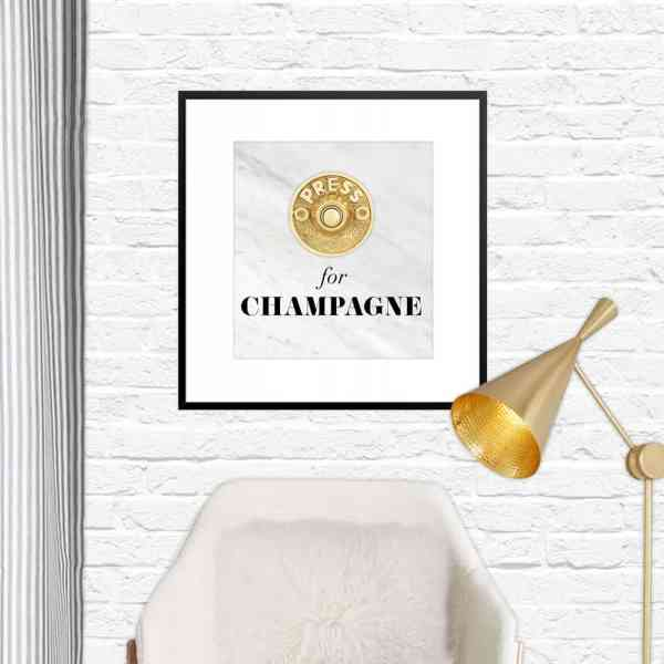 FREEBIE  //  PRESS FOR CHAMPAGNE