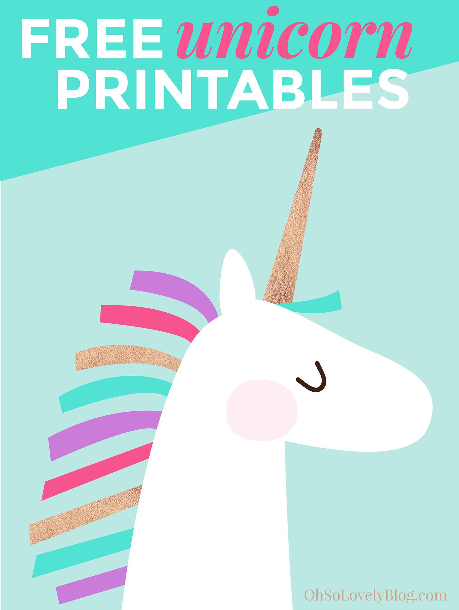 Free And Cute Unicorn Art Printables