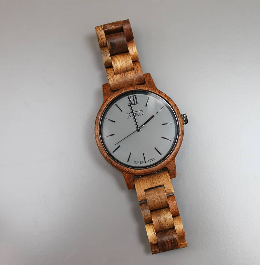 JORD wood watch with ash grey face
