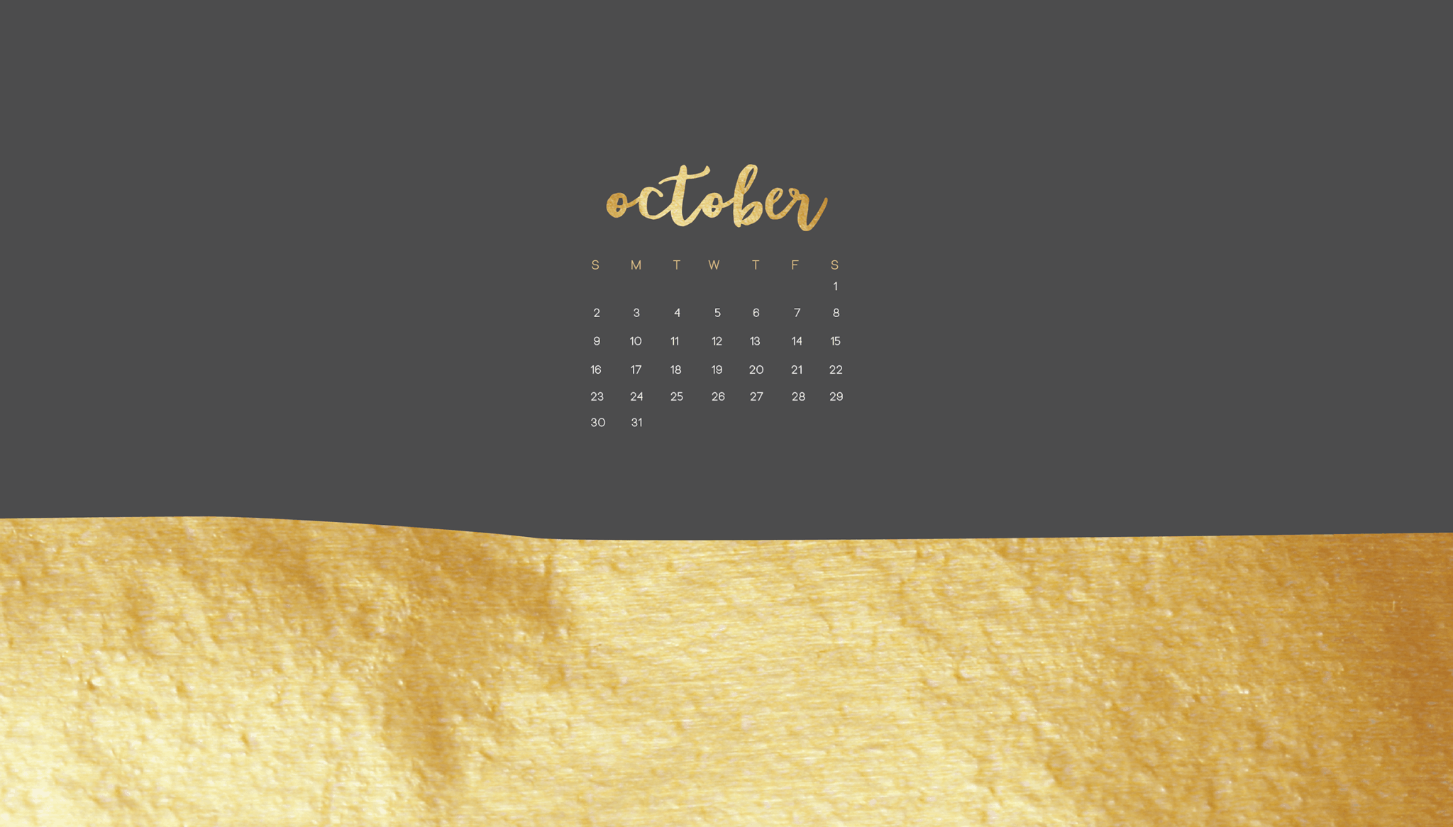 Free October Wallpaper Calendars For Smart Phone Or Desktop