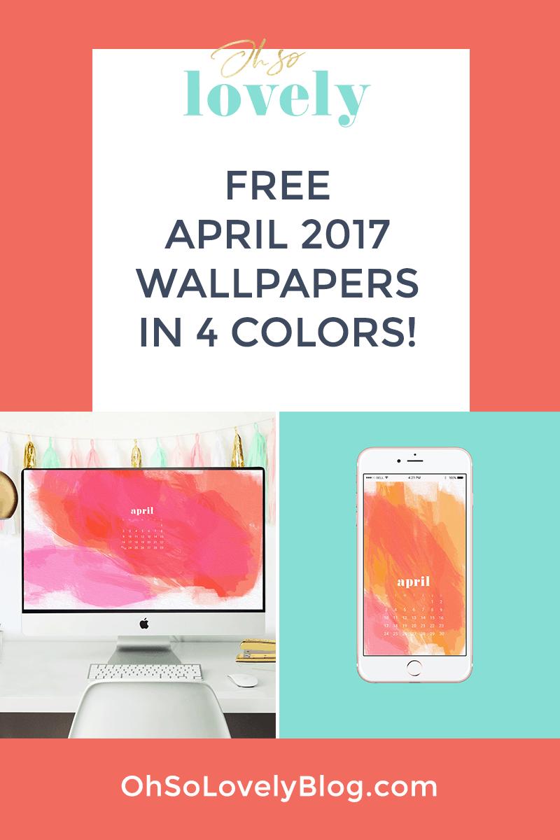 Free April tech wallpapers
