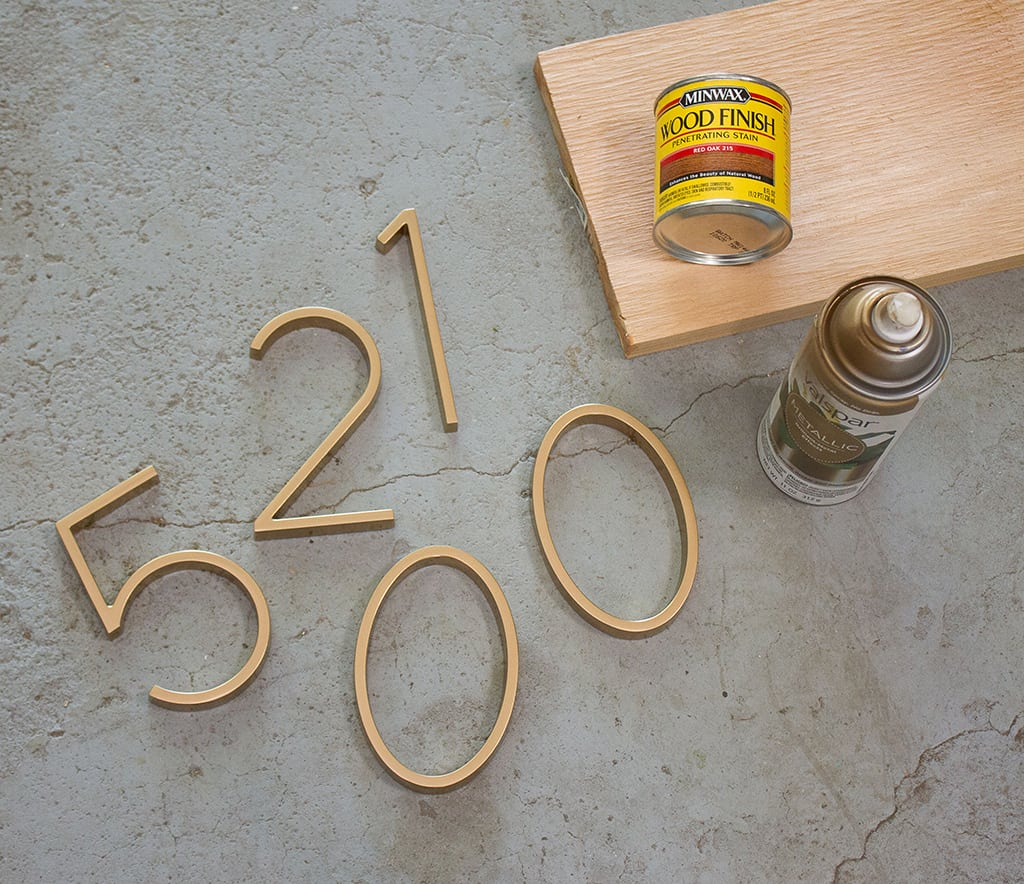 DIY modern house numbers tutorial affordably up your curb appeal