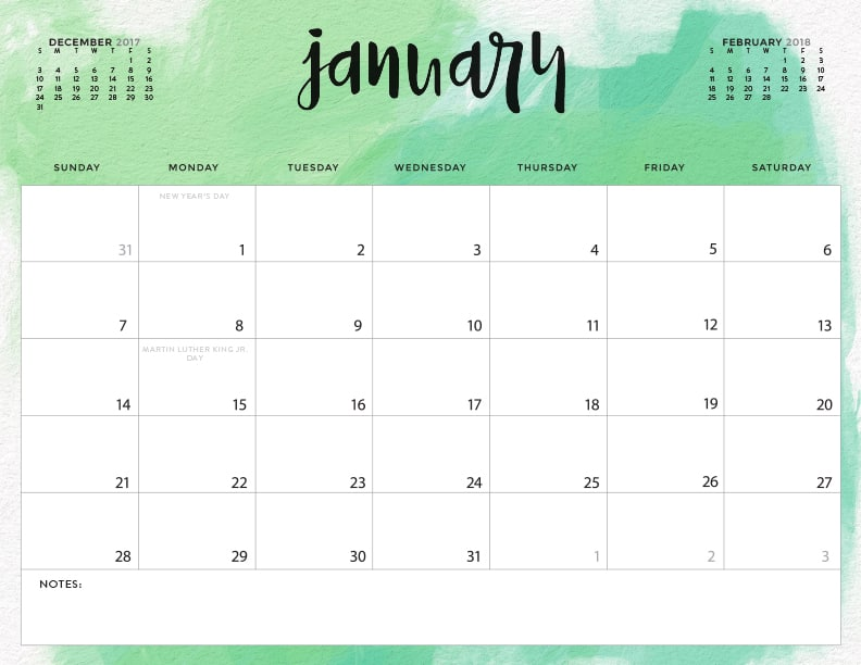 Download your FREE 2018 Printable Calendars today! There ...