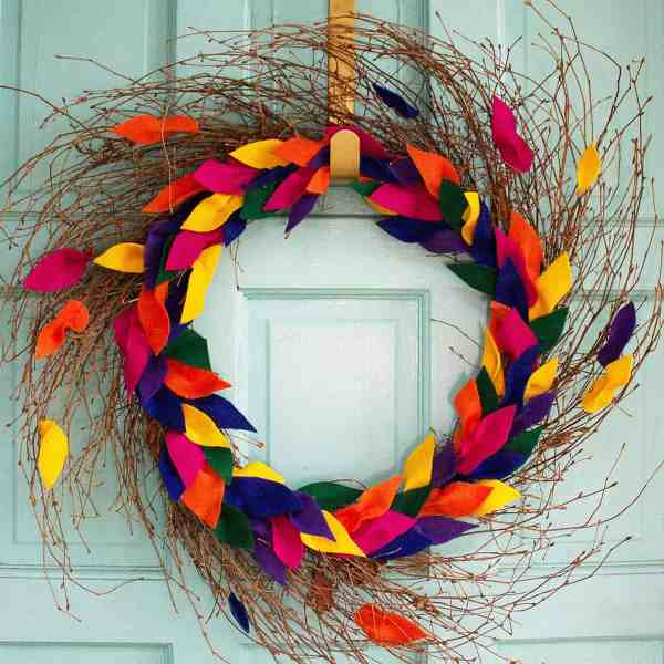 DIY //  FELT LEAF FALL WREATH