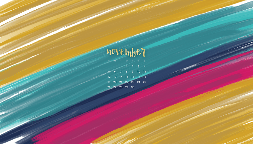 Oh So Lovely Blog shares 8 Free November desktop calendar wallpapers available in both Sunday and Monday start dates for desktop and mobile.
