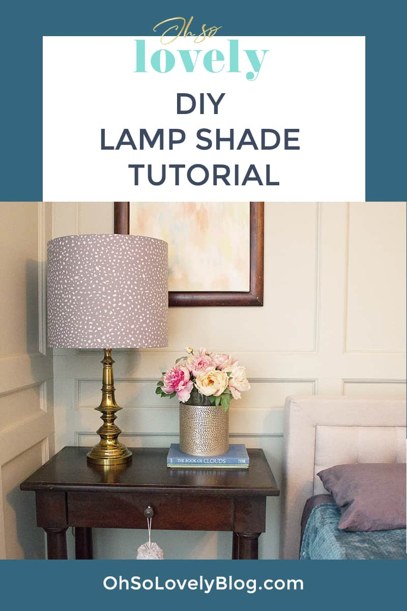 Audrey of Oh So Lovely Blog shows you just how easy it is to make your own DIY lamp shade from an I Like That lamp kit.