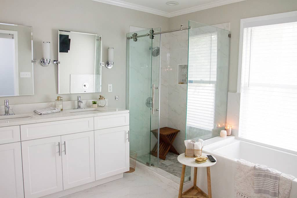 Audrey Kuether Of Oh So Lovely Blog Shares Her Complete Master Bathroom  Remodel Featuring Kohler And