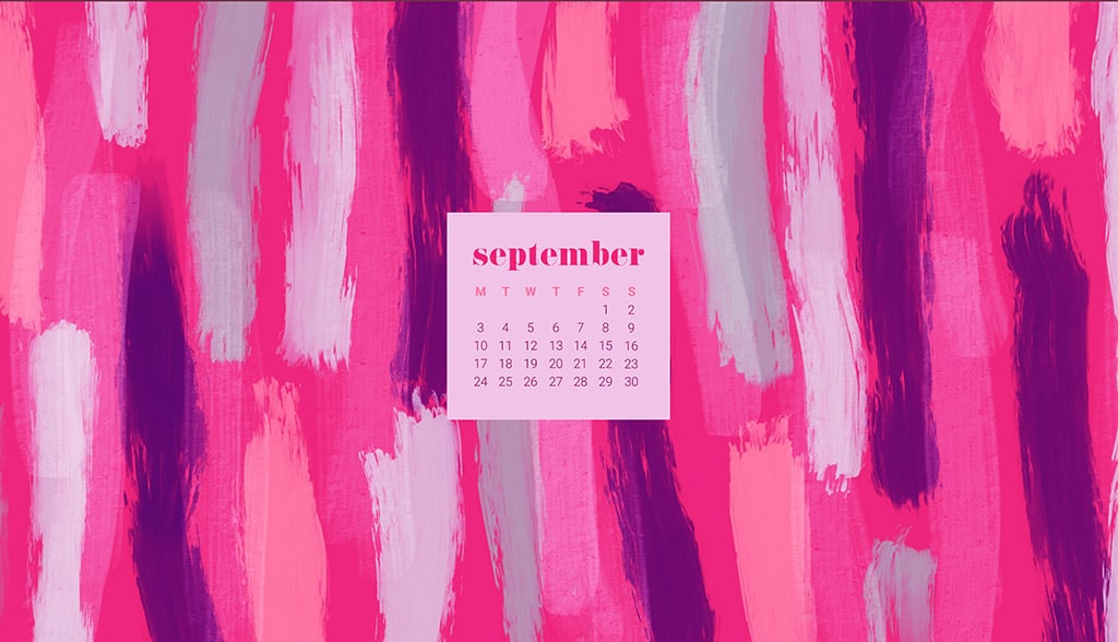 FREE September desktop wallpaper calendars