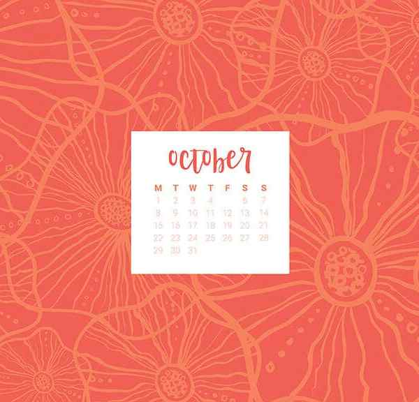 FREEBIES  //  OCTOBER DESKTOP CALENDARS