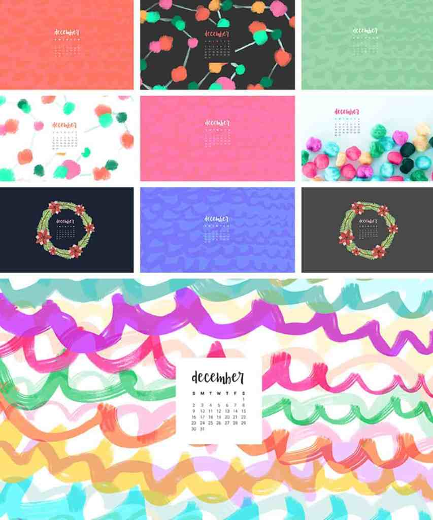 FREEBIES  //  DECEMBER DESKTOP WALLPAPER CALENDARS