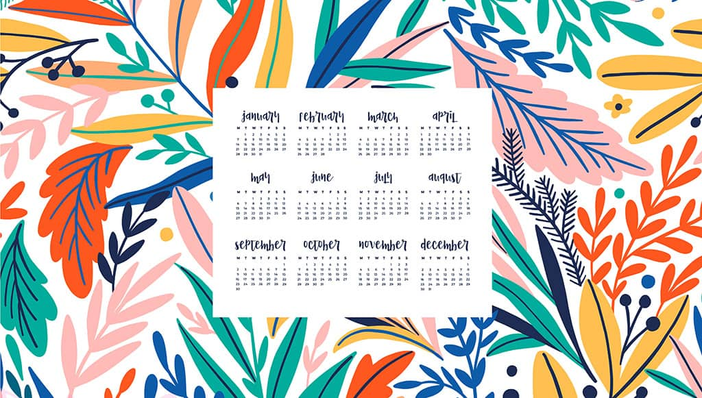 Audrey of Oh So Lovely Blog shares 12 FREE 2019 desktop wallpaper calendars in both Sunday and Monday starts. Download your favorite today!