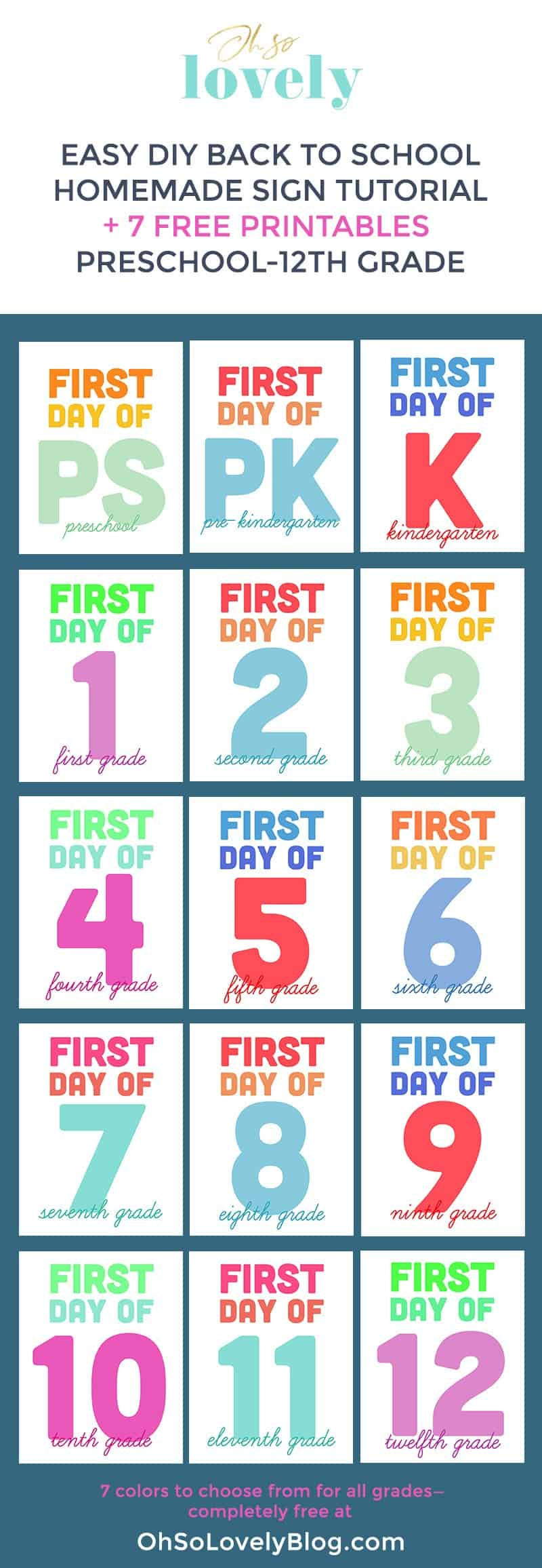 medium resolution of DIY homemade back to school sign and free printable signs