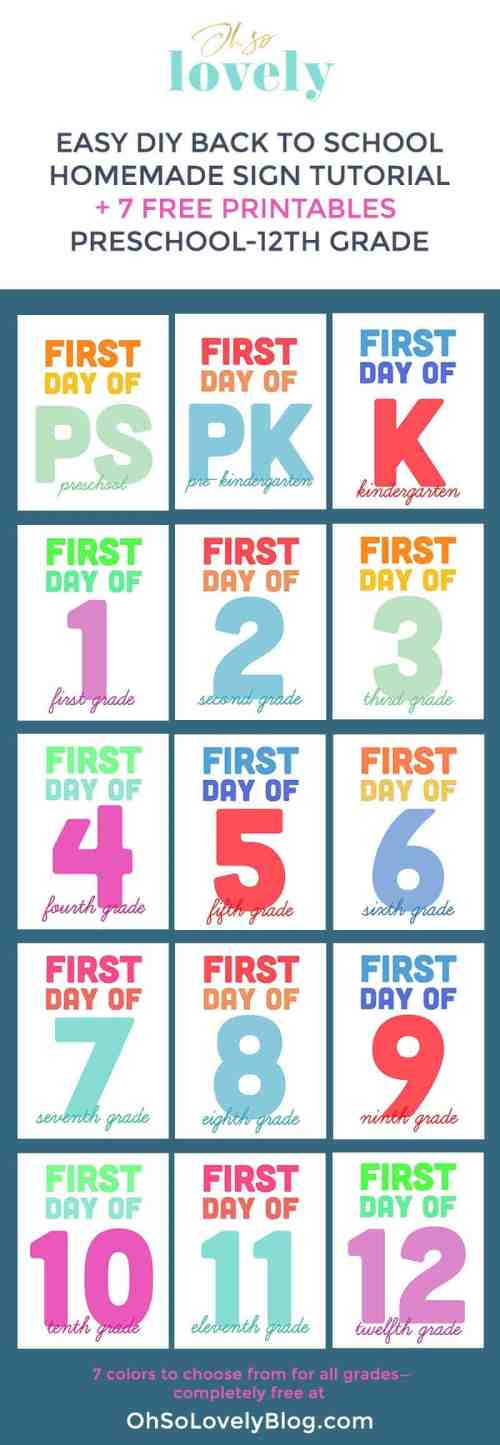 small resolution of DIY homemade back to school sign and free printable signs