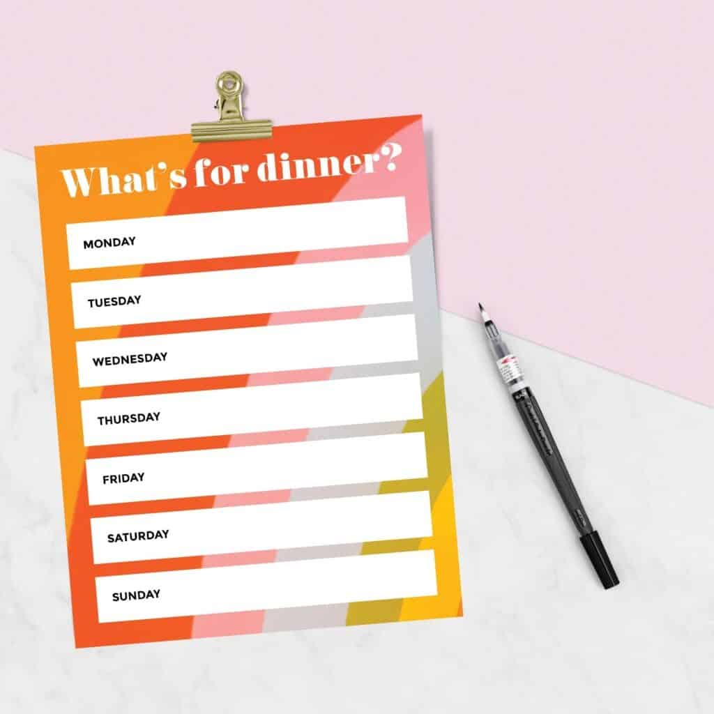 19 Free Meal Planning Worksheets