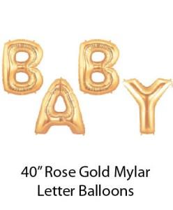 "40"" Rose Gold Mylar Balloons Baby"